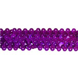 1 1/4'' Stretch Metallic Sequin Trim Purple