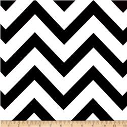 Mi Amor Duchess Satin Chevron Black/White Fabric
