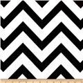 Mi Amor Duchess Satin Chevron Black/White
