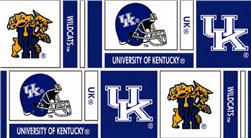 Collegiate Cotton Broadcloth University of Kentucky Squares