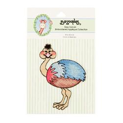 Iron-On Embroidered Applique Bazooples Ollie Ostrich