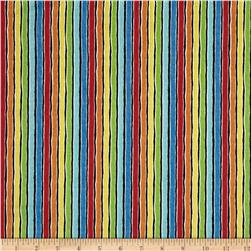 It's Elementary Rainbow Stripe Black