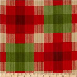 Claridge Manor Large Plaid Red