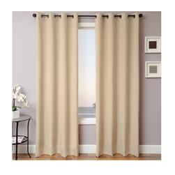 Sunbrella 96'' Solid Grommet Outdoor Panel Antique Beige