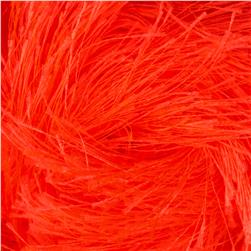Lion Brand Fun Fur Yarn Neon Orange