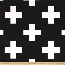 Premier Prints Large Swiss Cross Black/White