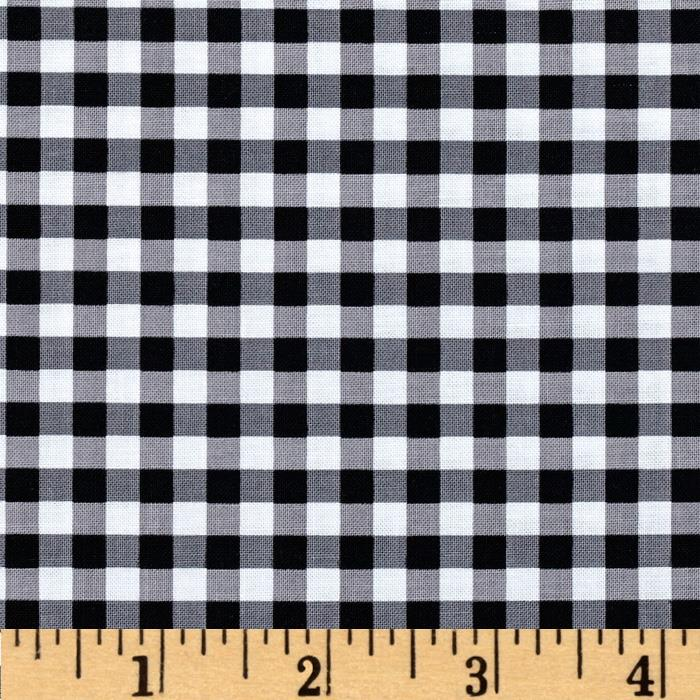 Riley Blake Basics Medium Gingham Black