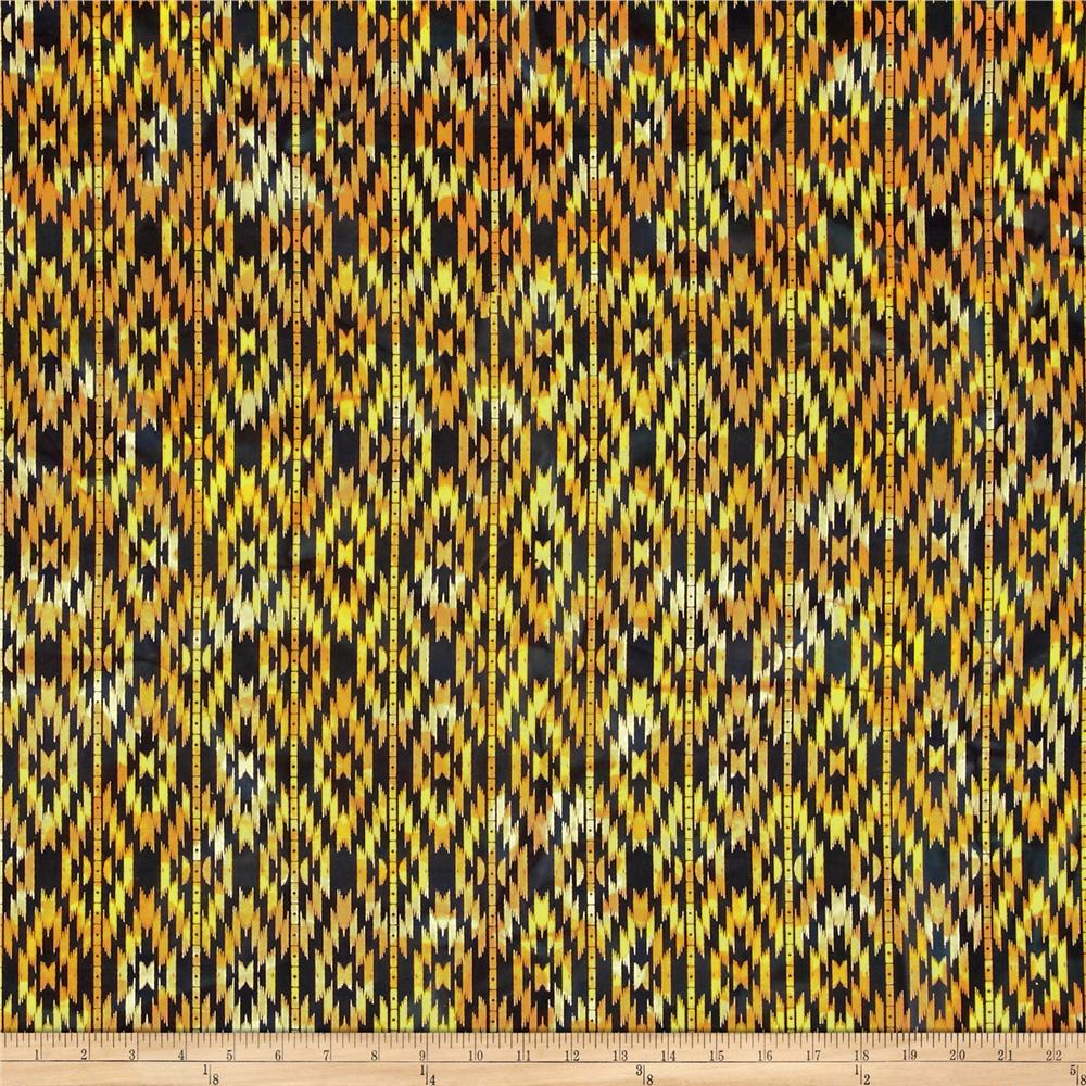 Indian Batik Sierra Nevada Southwest  Stripe Black/Orange