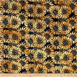 Island Batik Sunflower Dark Tan/Blue