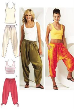 Kwik Sew Harem Pants & Top Pattern