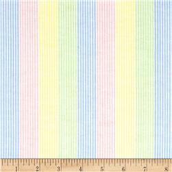 Aunt Polly's Flannel Stripe Blue/Green/Yellow/Pink