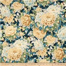 Robert Kaufman Imperial Collection Metallic Large Flowers Spring
