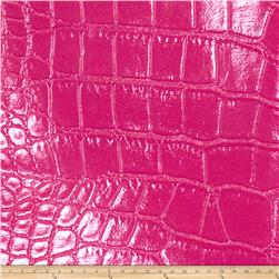 Fabricut Aluminum Faux Leather Magenta