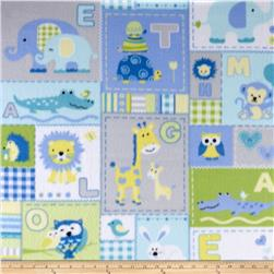 Fleece Animal ABC Patchwork Blue