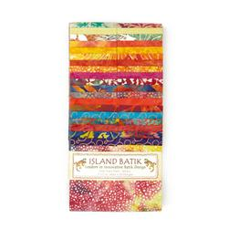 "Island Batik 2.5"" Strip Pack Sunkist"