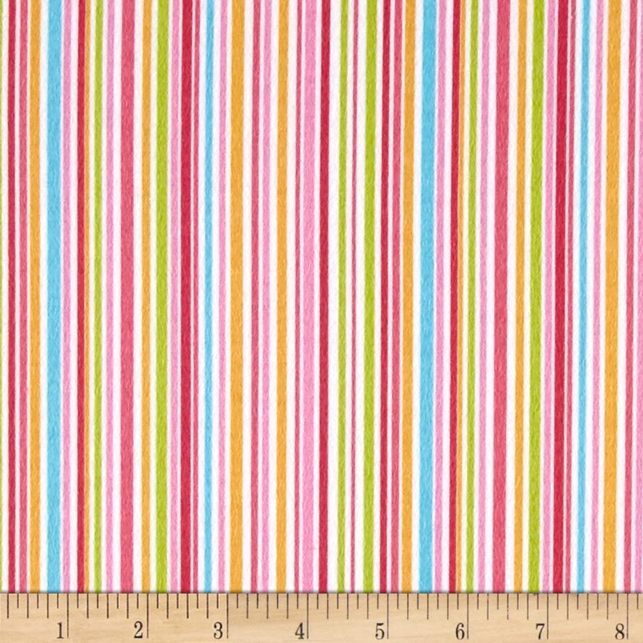 Michael Miller Nature Babies Flannel Slender Stripe Princess Fabric By The Yard