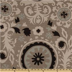 Premier Prints Suzani Black Stone/Denton Fabric