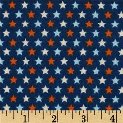 Riley Blake Rocket Age Flannel Stars Blue