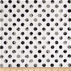 Printed Lace Dots Black/White