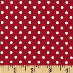 Aunt Grace Dots Red Fabric