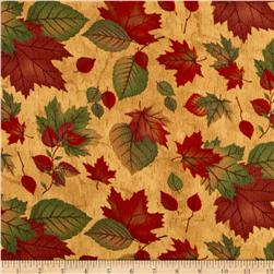 Moda Endangered Sanctuary Flannel Autumn Leaves Golden Oak