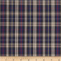 Tartan Plaid Ivory/Royal