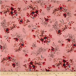 French Designer Cotton Voile Floral Pink/Multi