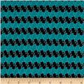 Stretch Jacquard Knit Stripe Black/Teal