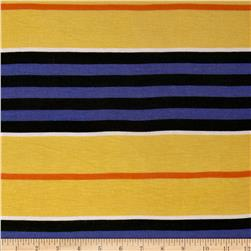 Rayon Jersey Knit Stripe Purple/Yellow