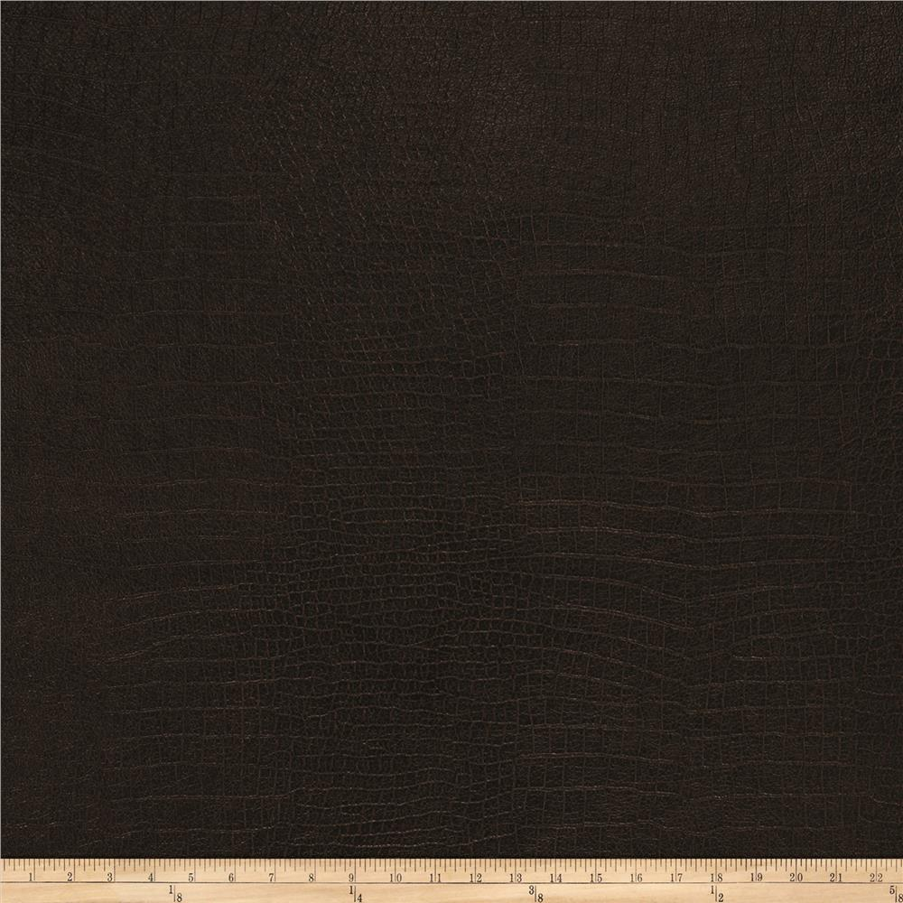 Fabricut Fenmore Faux Leather Walnut