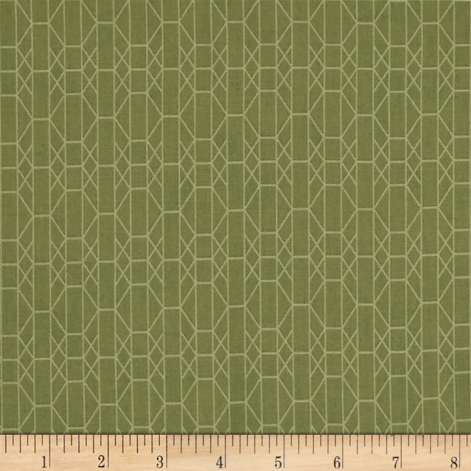 INOpets.com Anything for Pets Parents & Their Pets Baseline Geo Grid Green/Green Fabric