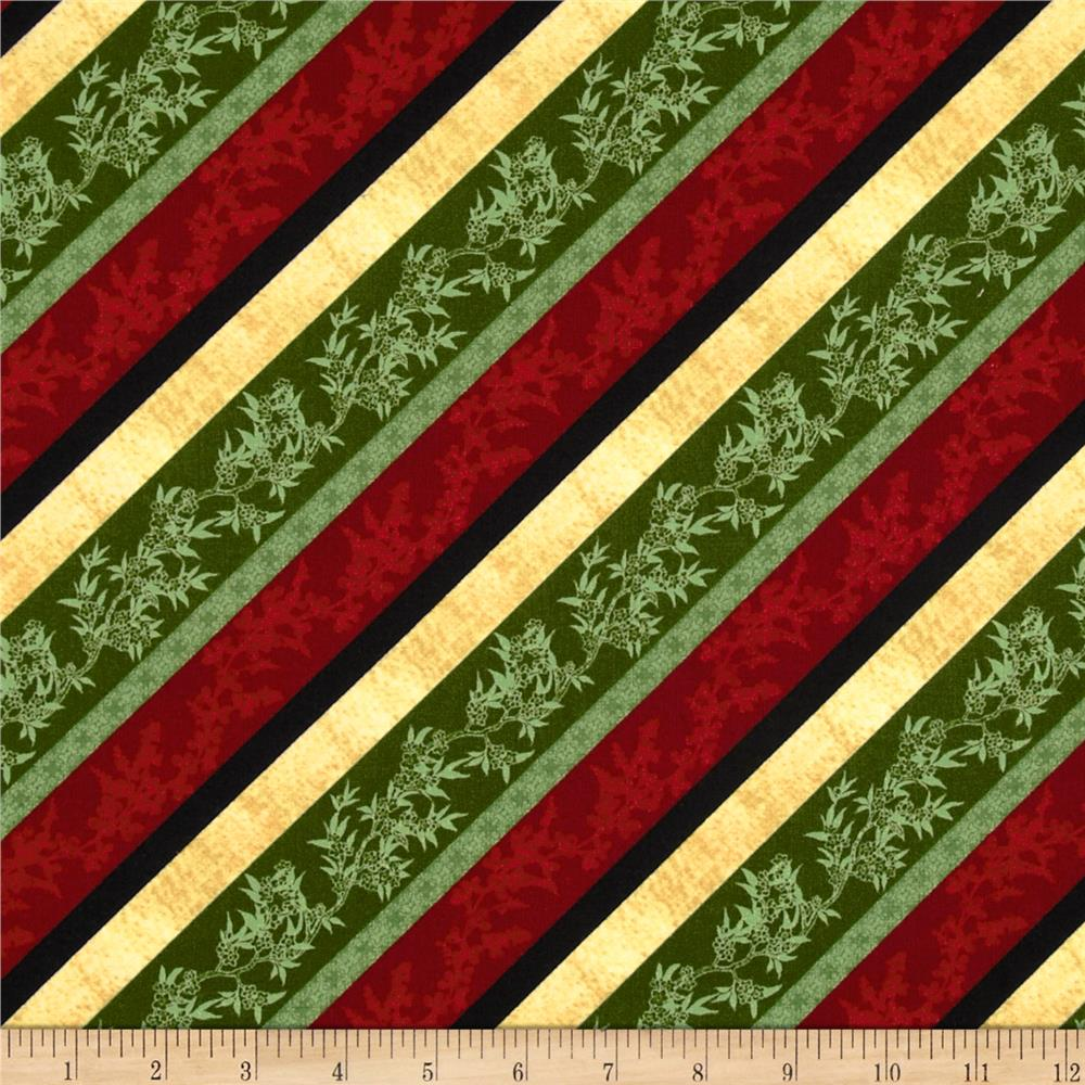 Bouquet Moderne Roses Diagonal Stripe Green/Multi