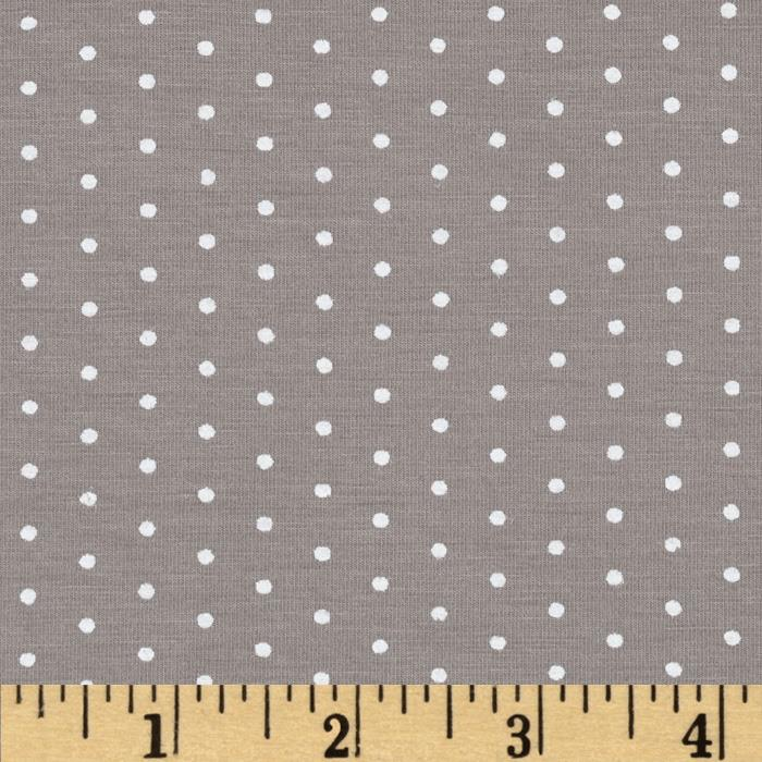 Stretch Bamboo Rayon Jersey Dot Tan