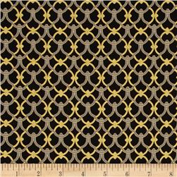 Alchemy Metallic Ironwork Black/Gold Fabric