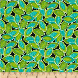 Quiltologie Tossed Leaves Black/Multi