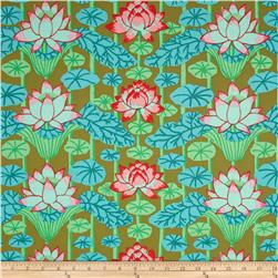 Kaffe Fassett Lotus Stripe Green Fabric