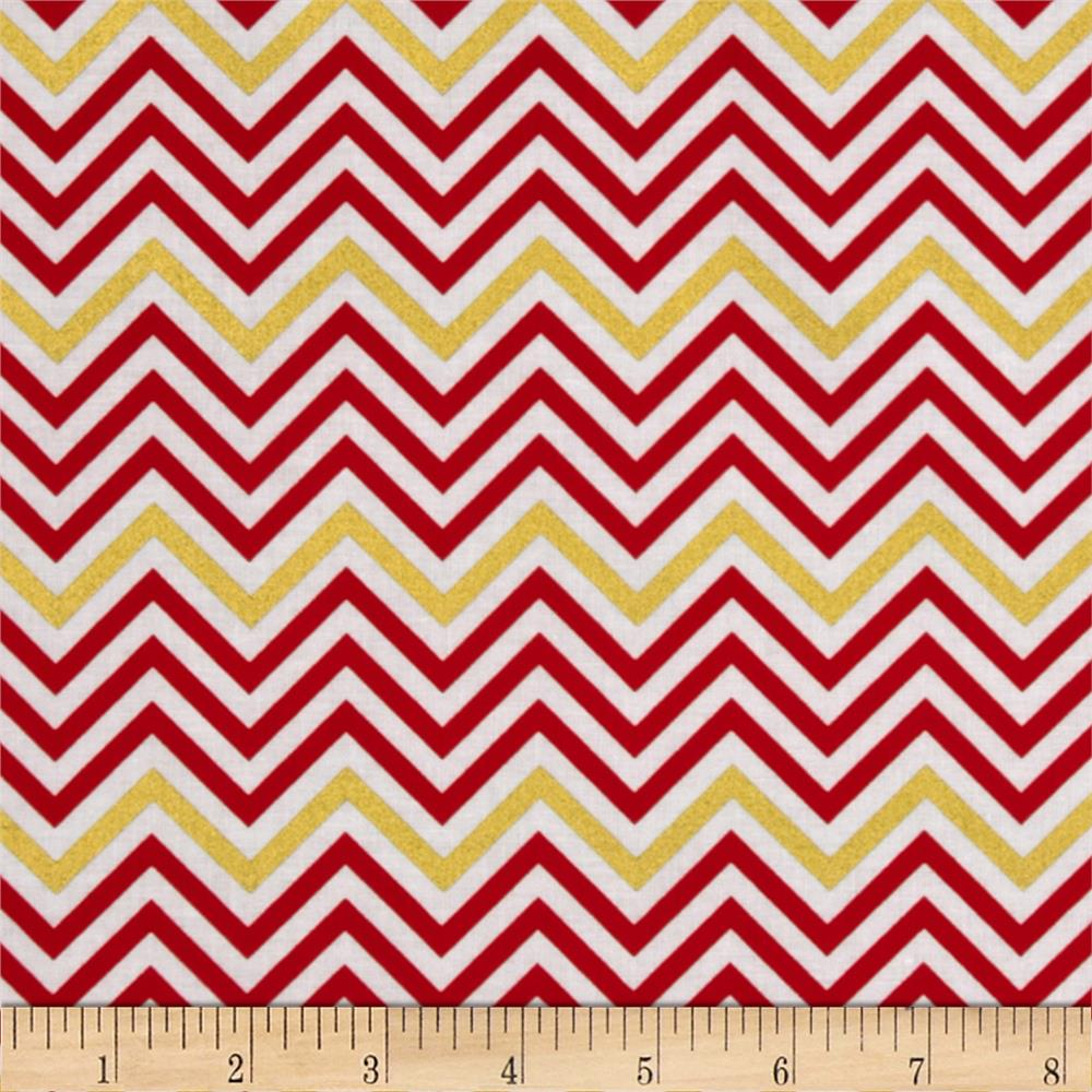 Remix Metallic Small Chevron Flame - Discount Designer Fabric ...