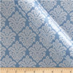 Charmeuse Satin Classic Damask Blue/White