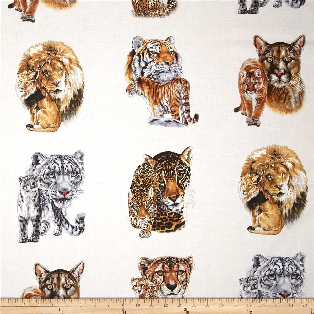 Big Cats 24 In. Panel Cream