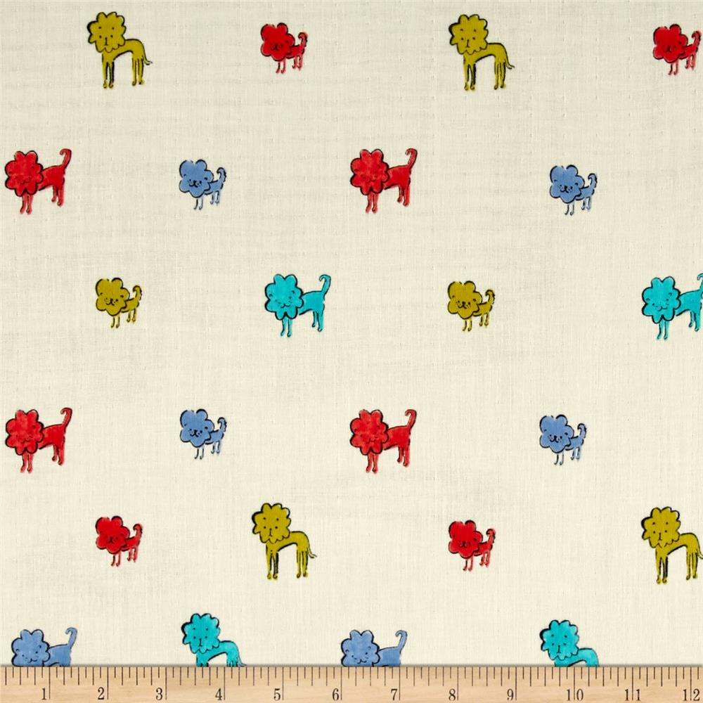 Cotton & Steel Clover Double Gauze Dog Lions