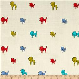Cotton & Steel Clover Double Gauze Dog Lions Blue