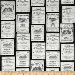 Robert Kaufman Vineyard Wine Labels Antique