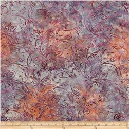 Batavian Batiks Stylized Grass Purple/Coral