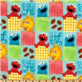 Sesame Street Flannel Character Squares Multi