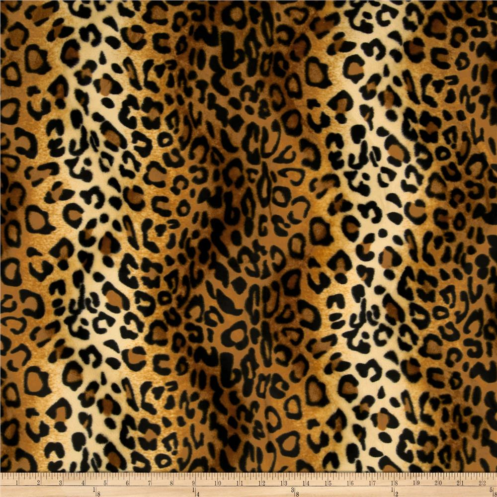 Faux Fur Leopard Velboa Brown Discount Designer Fabric