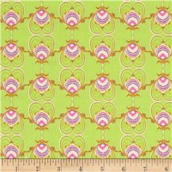 Memory Lane Peacock Green Fabric