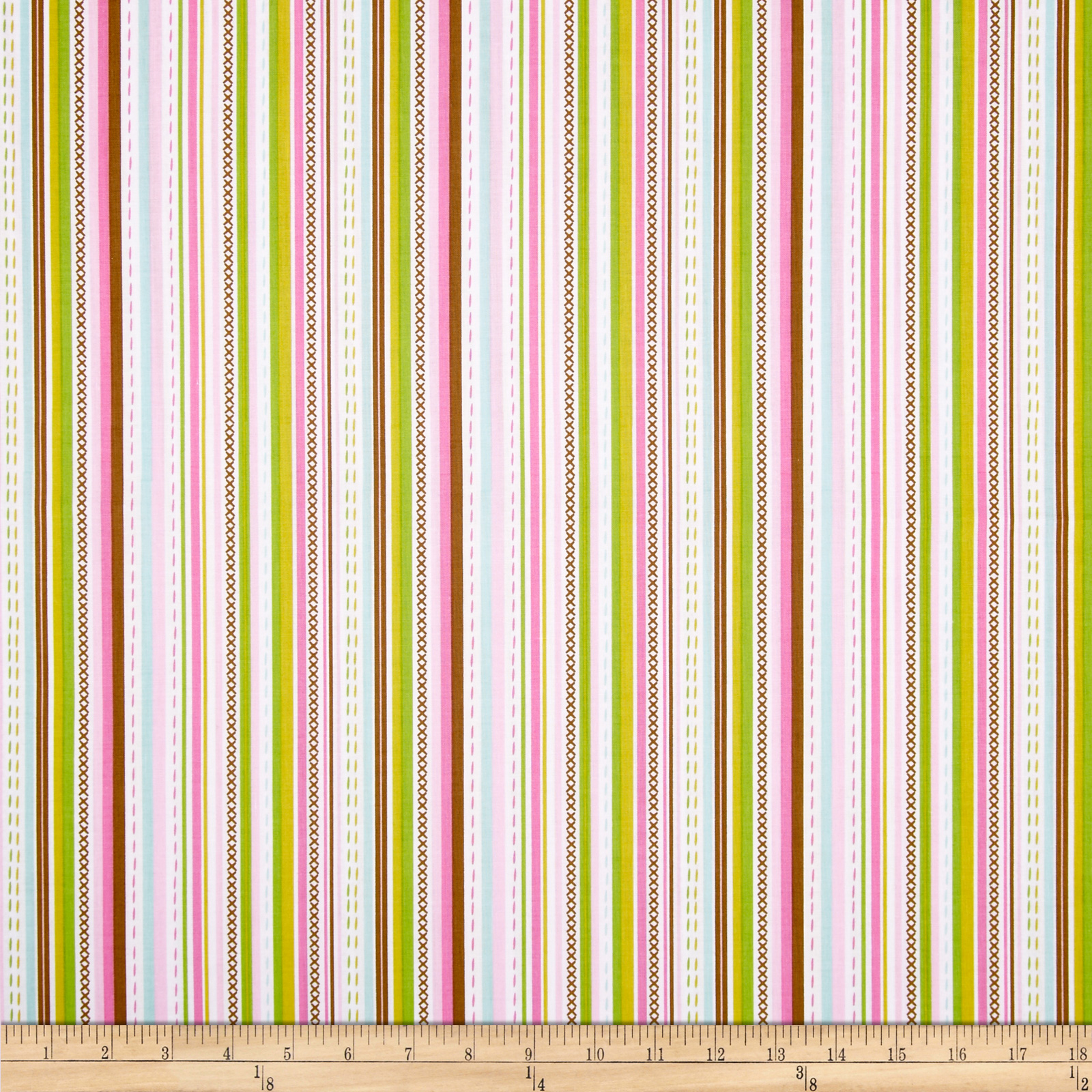 Maisie Stitch Bubble Gum Fabric