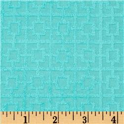 Novelty Stretch Cotton Blend Terry Cloth Knit Turquoise