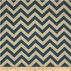 Premier Prints Zig Zag Denim Blue/Natural Fabric