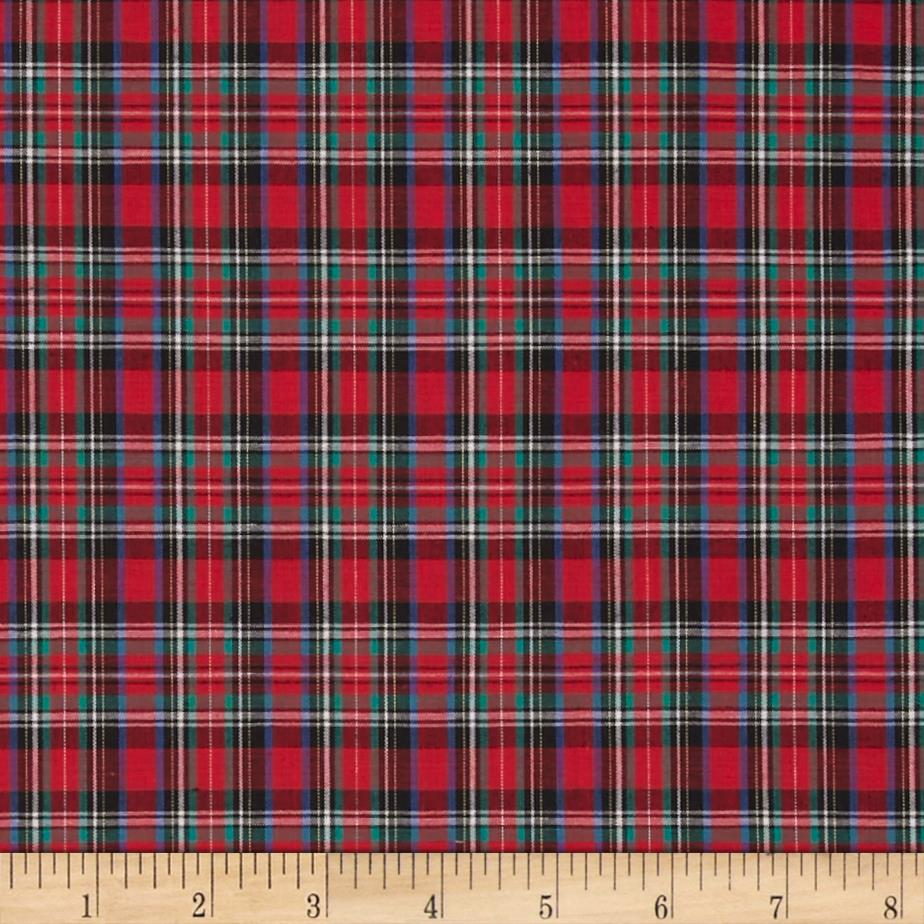tartan plaid christmas red green discount designer fabric. Black Bedroom Furniture Sets. Home Design Ideas
